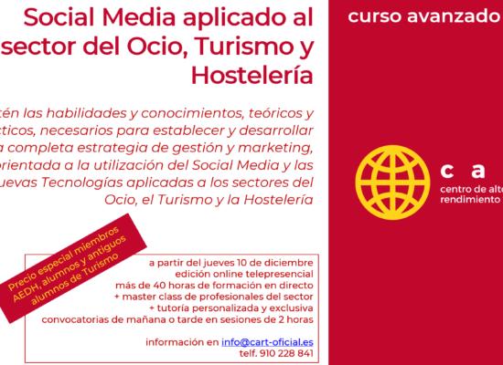 Curso Avanzado Social Media para Turismo Hostelería